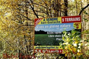 Panneau urbanisation Aiseau-Prêles 11-2015